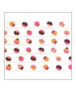 ruban cupcakes pour bijoux