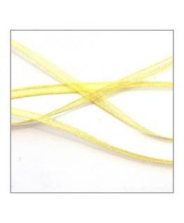 ruban mousseline 3mm jaune