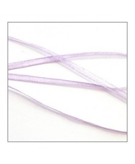 ruban mousseline 3mm lilas