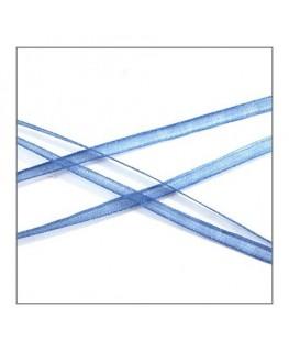 ruban mousseline 3mm bleu