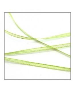 ruban mousseline 3mm vert clair