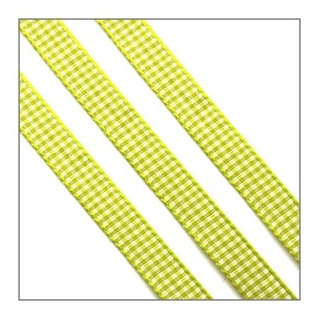 ruban vichy vert clair 10mm