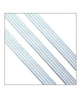 ruban vichy 10mm bleu clair