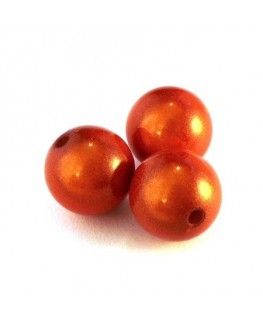 perle magique 14mm orange x5