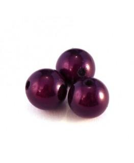 perle magique 12mm violet foncé x6