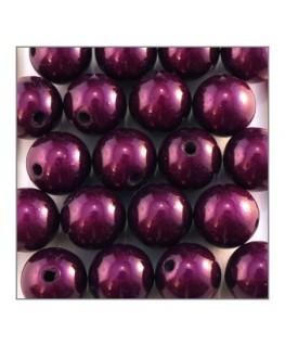 Perles magiques 12mm violet foncé x20