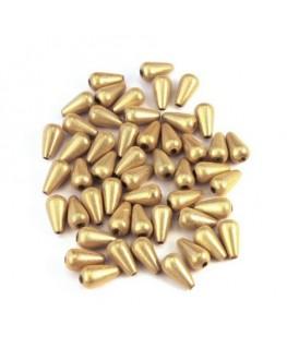 perles magiques goutte 10mm ivoire