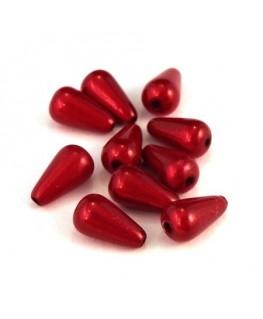 perle magique goutte 10mm rouge