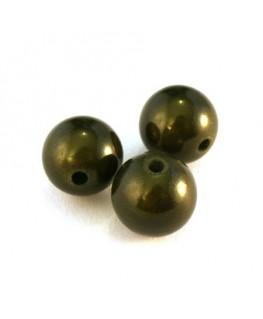 perle magique 12mm vert kaki x6
