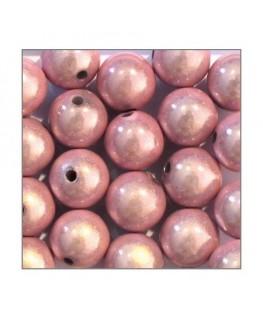 perles magiques 12mm rose x20