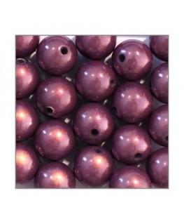 perles magiques 12mm violet x20