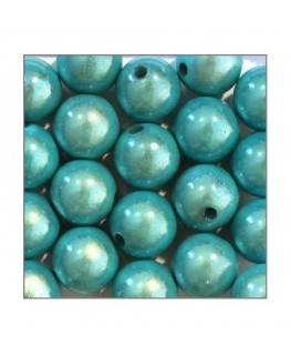 Perles magiques 12mm turquoise x20