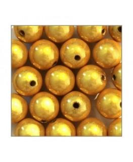 Perles magiques 12mm jaune x20