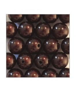 Perles magiques 12mm marron x20