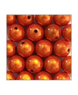 perles magiques 12mm orange x20