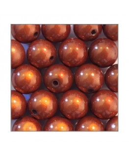 Perles magiques 12mm caramel x20