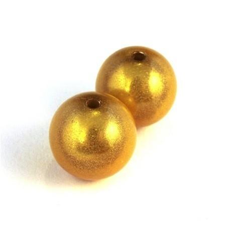 perle magique 16mm jaune x2