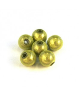 perles magiques 8mm vert anis x20