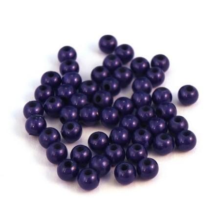 Perle magique 4mm bleu foncé x50