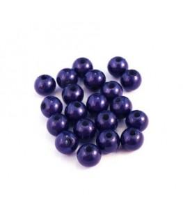 Perle magique 6mm bleu foncé x20
