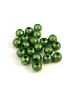 Perle magique 6mm vert foncé x20
