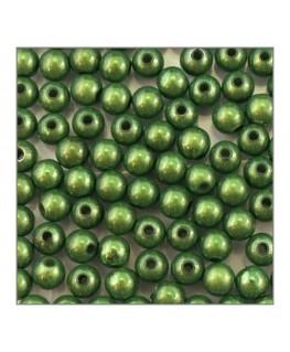 Perle magique 6mm vert foncé x100