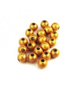 Perle magique 6mm jaune x20