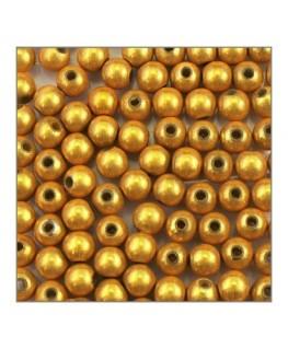 Perle magique 6mm jaune x100
