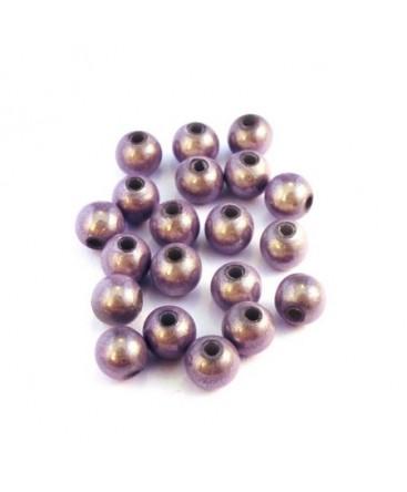 Perle magique 6mm lilas x20