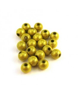 Perle magique 6mm vert anis x20