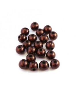 Perle magique 6mm marron x20
