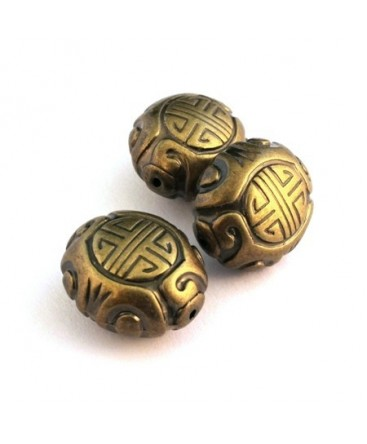 Perle CCB ovale bronze x1