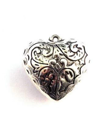 Perle CCB pendentif coeur argent x1