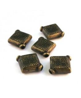 Perle CCB losange 20mm bronze x10