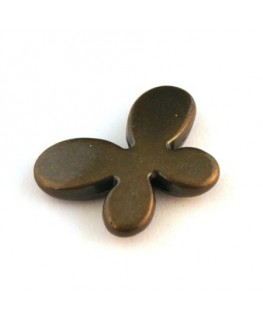 Perle CCB papillon bronze x4
