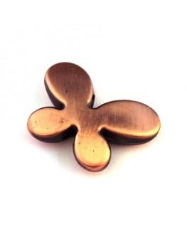 Perle CCB papillon cuivre x4