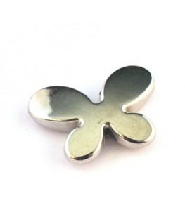 Perle CCB papillon vieil argent x4