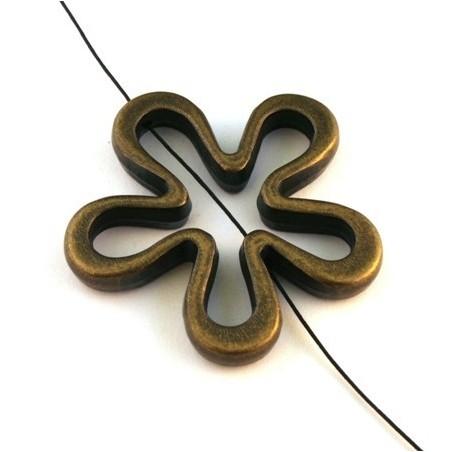 Perle CCB fleur bronze 45mm x1