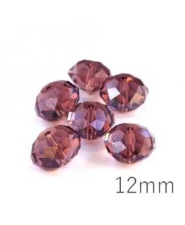 Perle rondelle à facettes 12mm light amethyst