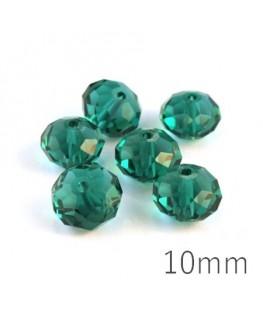 Perle rondelle à facettes 10mm tourmaline x10