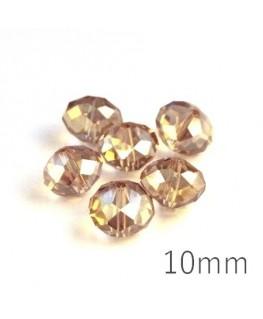 Perle rondelle à facettes 10mm cristal shadow AB