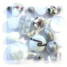 Vente de Perles Blanches - Perlasara Perles et Loisirs