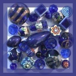 Vente de perles et accessoieres - Perles Bleues