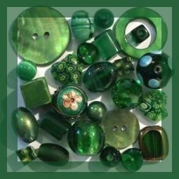Perles vertes - Vente de Perles et Accessoires Bijoux sur Perlasara