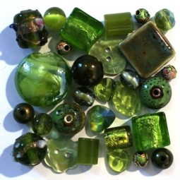 Perles vertes olivine - Vente de Perles et Accessoires Bijoux sur Perlasara
