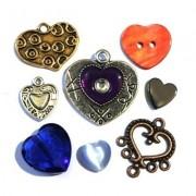 Perles et breloques coeur sur Perlasara
