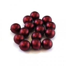 Perles nacrées givrées en verre