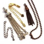 Chaînettes, pampilles en métal et accesoires en chaîne pour bijoux fantaisie