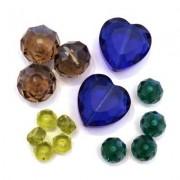 Perles à Facettes en Verre