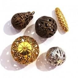 Perles Filigrane - Perles Filigranées en Métal